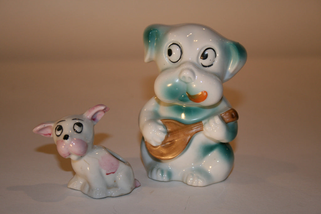 Vintage Pair of 1950s Ceramic Dogs