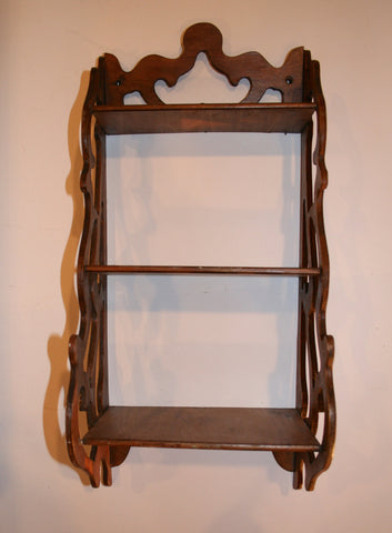 1940s Wood Wall Shelf