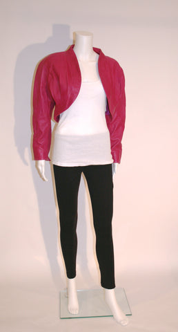 Razzleberries Leather Bolero Jacket