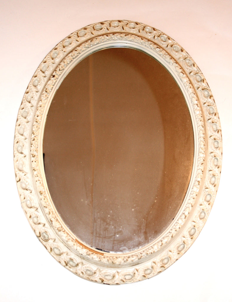 Shabby Chic Vintage 1960s Oval Mirror - Vintage Swag Chics