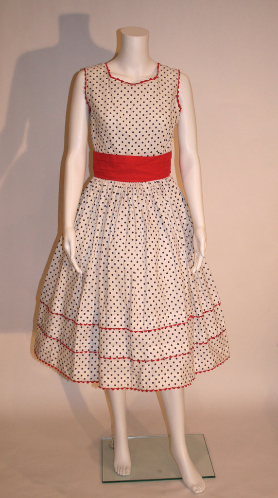 1950s Vintage Polka Dot Dress - Vintage Swag Chics
