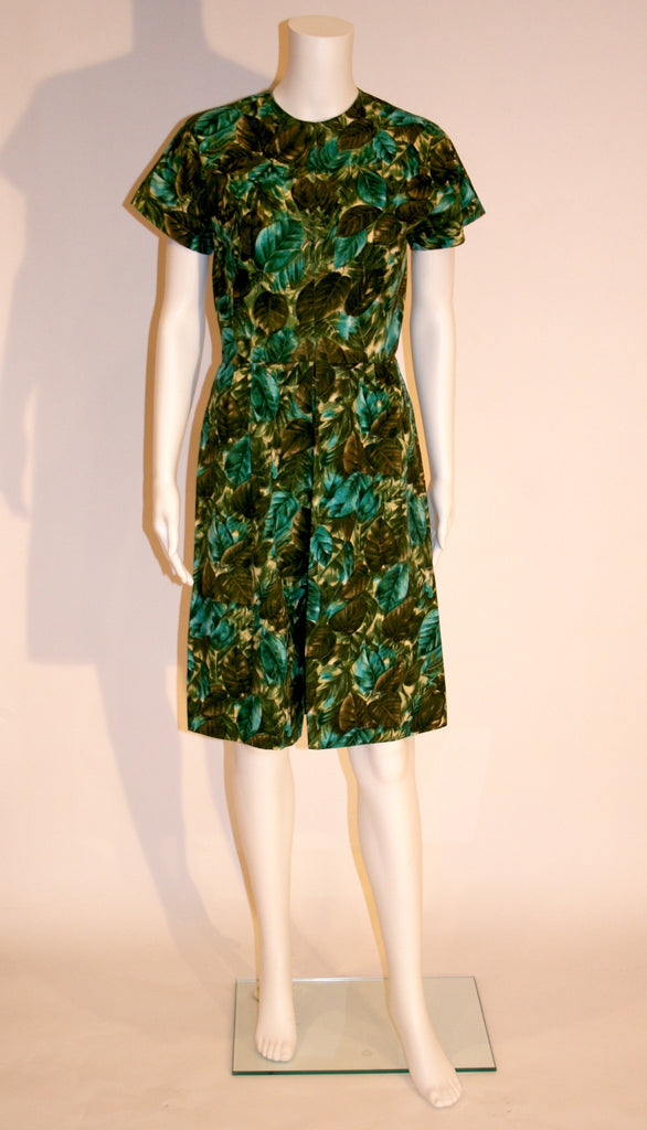 Vintage 1960s Tropical Print Dress - Vintage Swag Chics