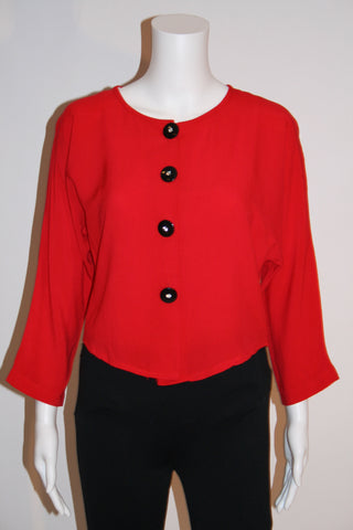 80s Sassy Cropped Red Jacket