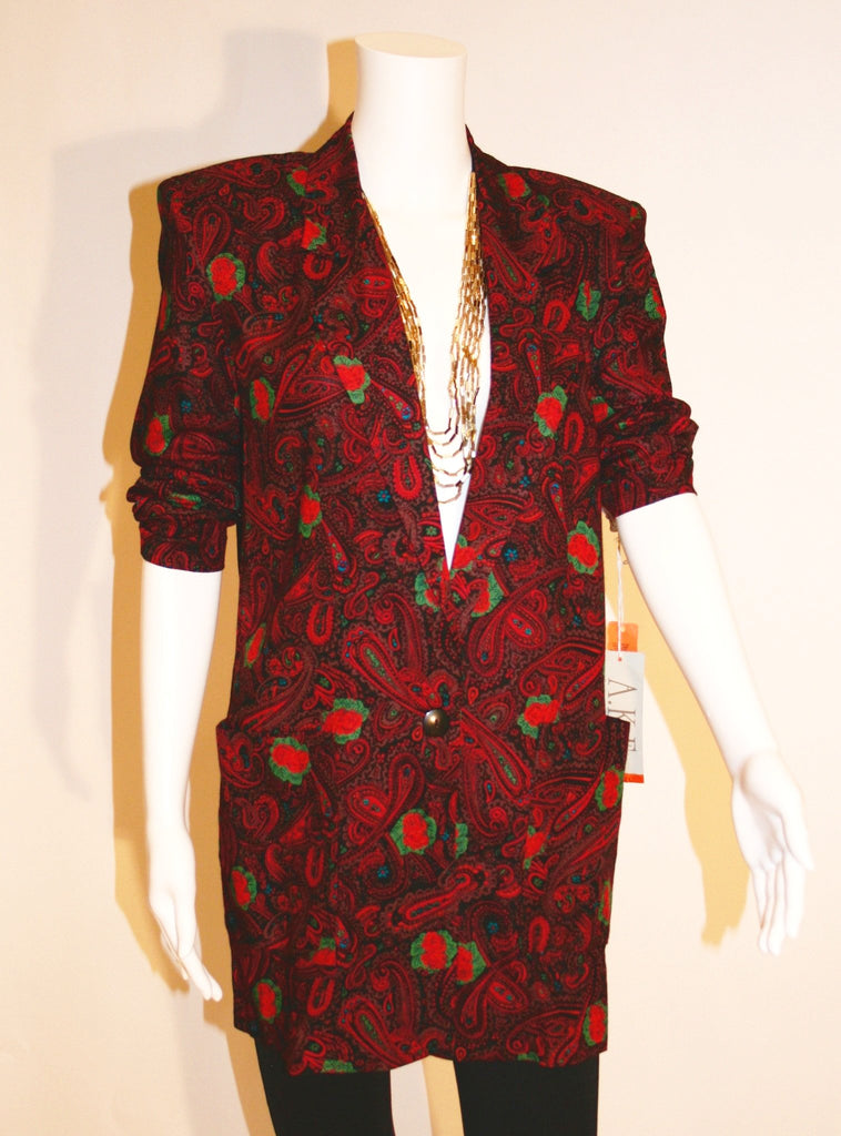 Vintage Paisley and Roses Blazer