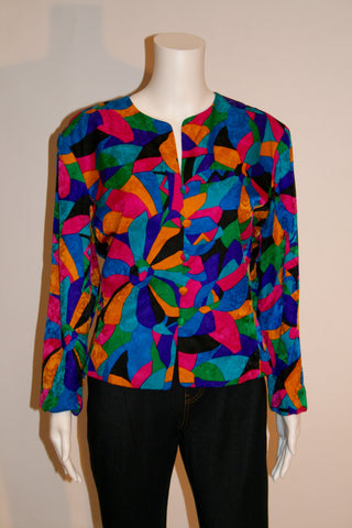 Vintage Adrianne Papell Silk Jacket/Blouse