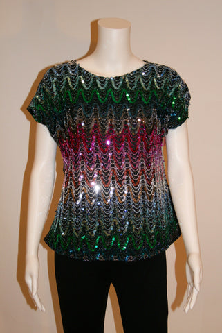 Vintage Sequined 80s blouse By Joanna