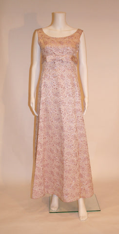 Pretty in Pink Brocade Gown