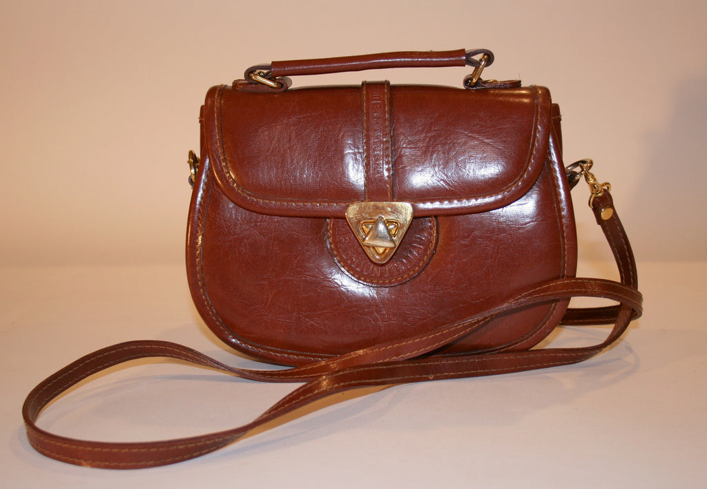 Vintage 80's Leather Cross body bag - Vintage Swag Chics