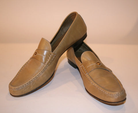 Vintage 70s Ferragamo Leather Loafers
