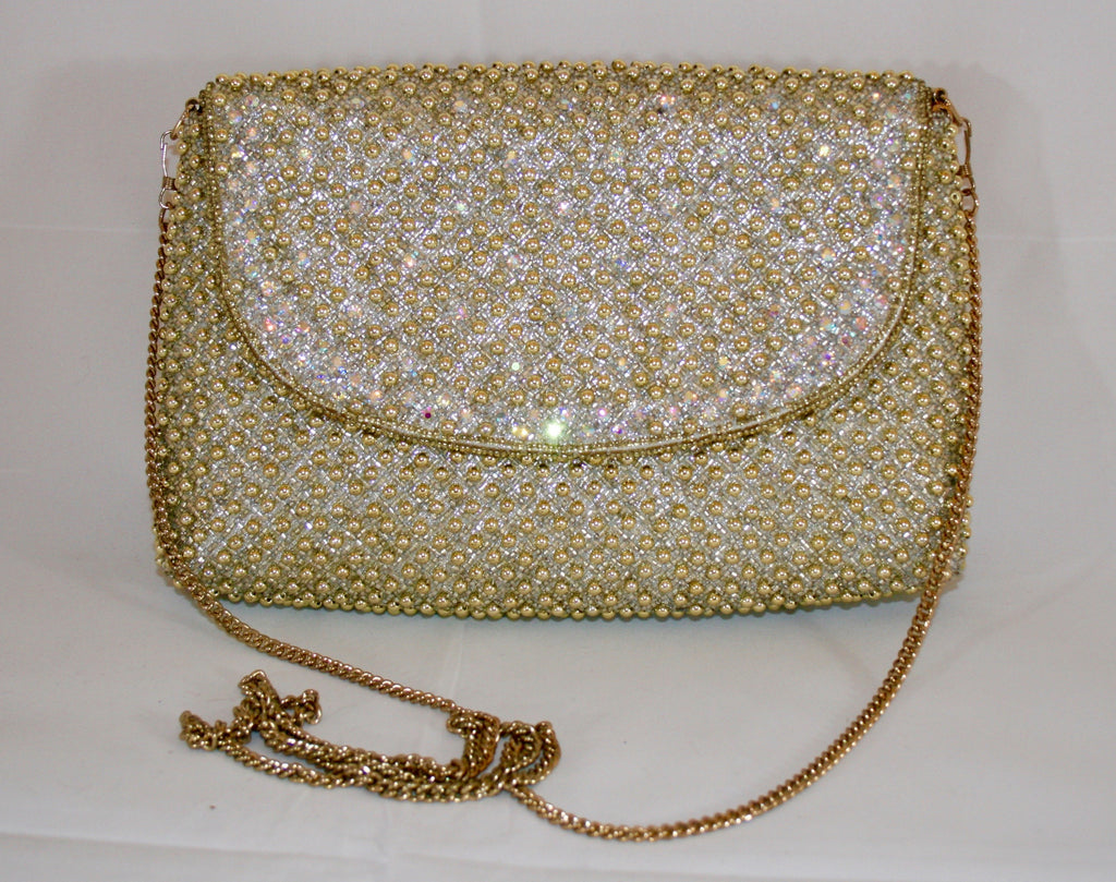 Vintage 80s Beaded Evening Bag - Vintage Swag Chics