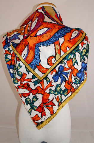 Vintage Perry Ellis Silk Scarf