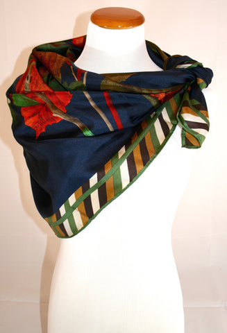 Perry Ellis Vintage Silk Scarf