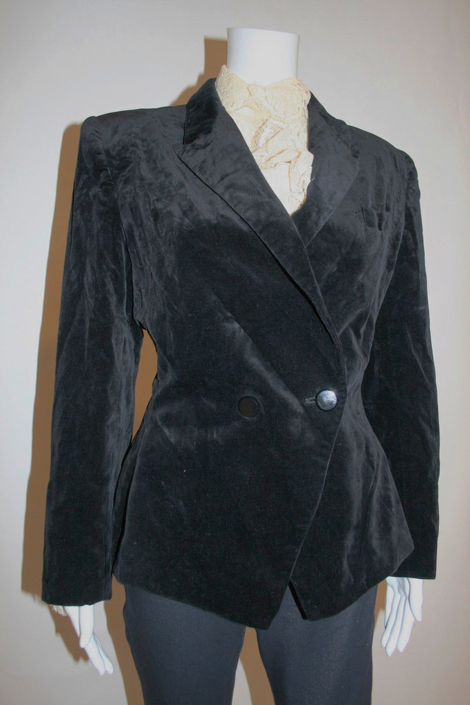 Vintage Kasper for A.S.L. Black Velvet Jacket