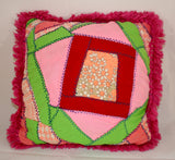 Adorable Vintage Crazy Quilt Pillow