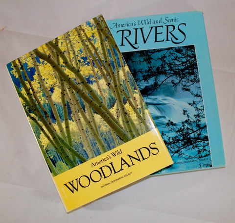 National Geographic Vintage Hardback Books, America's Wild Woodlands,Rivers