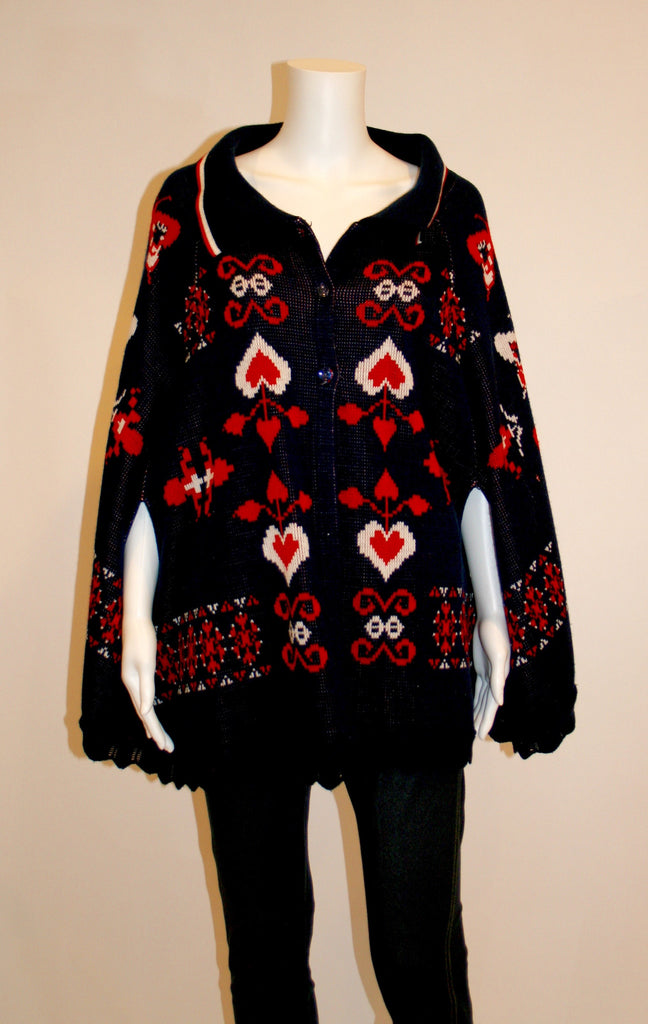 Amazing Vintage Knit Poncho - Vintage Swag Chics
