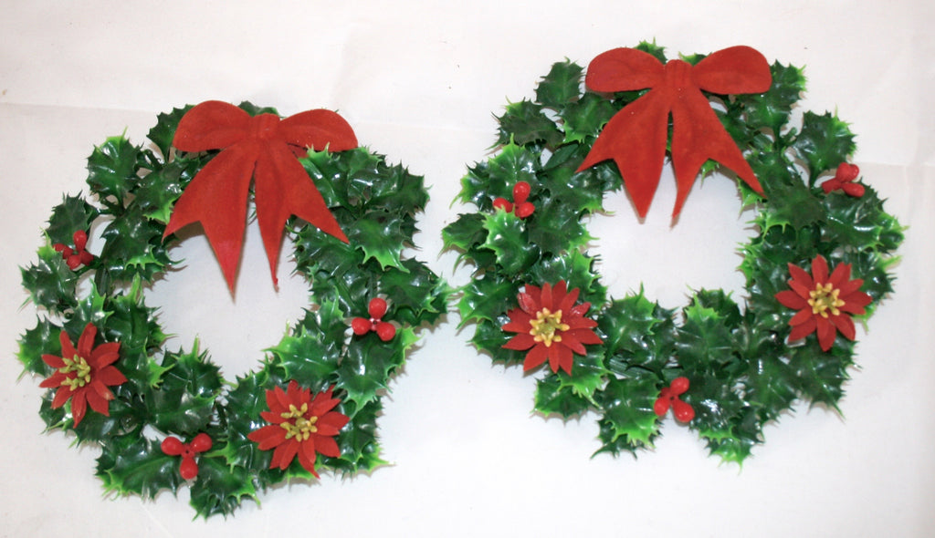Vintage Holly Wreaths