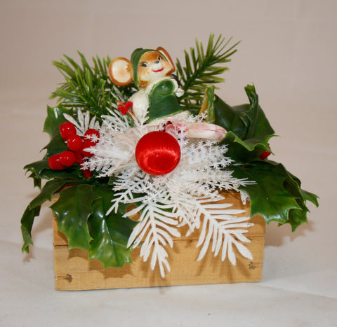 Vintage Plastic Christmas arrangement