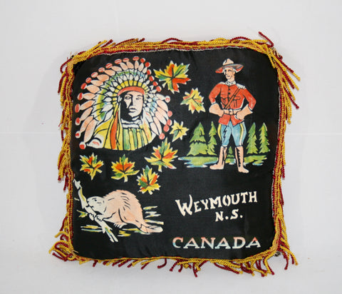 1940s Canadian Souvenir Pillow