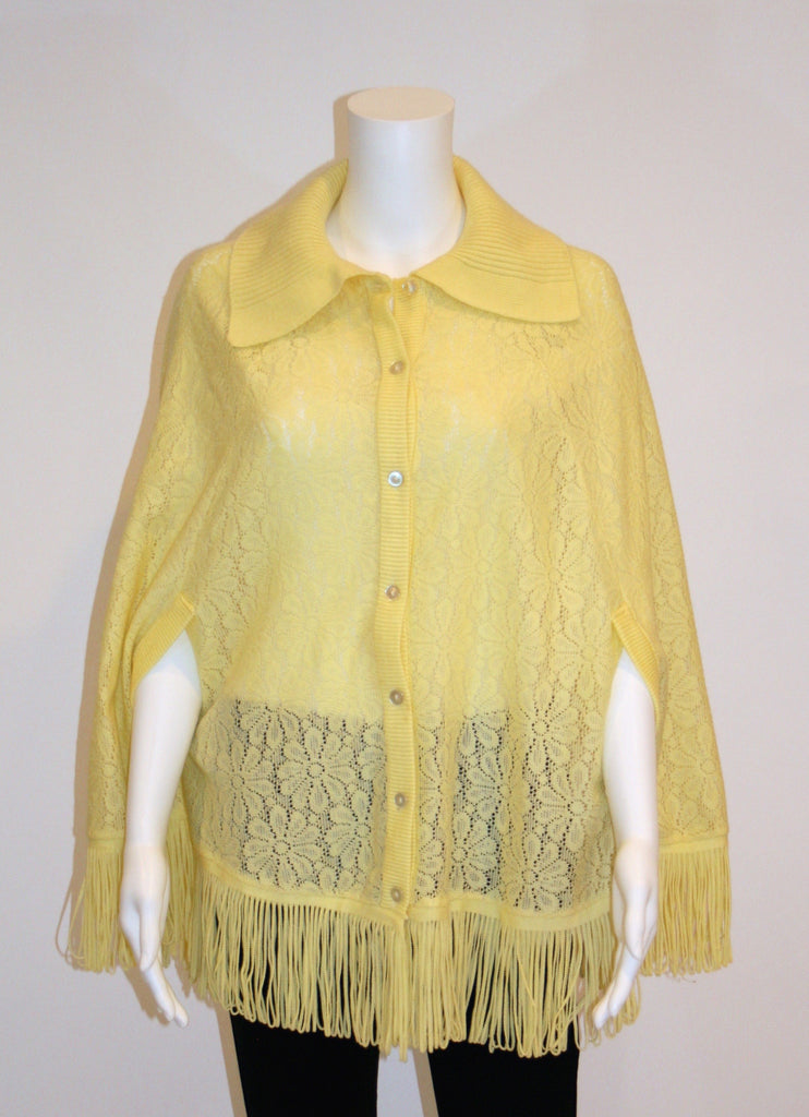 Vintage Cape, 1970s Sweater Cape