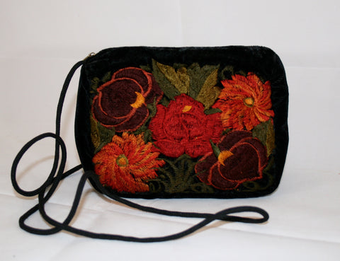 Vintage Embroidered Guatemalan Cross Body Purse