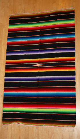 Vintage Hand Woven Mexican Rug