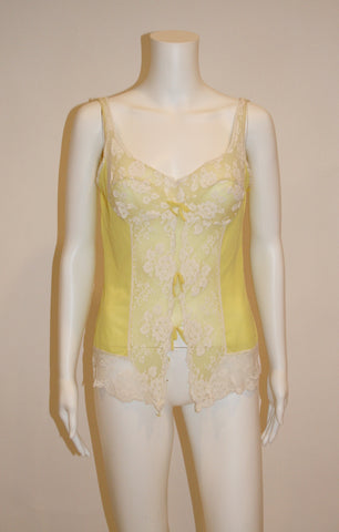 Vintage Yellow Lace Cami Lingerie top