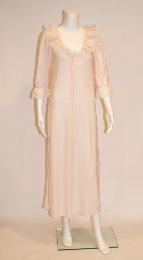 Givenchy Vintage Pale Pink Nightgown - Vintage Swag Chics