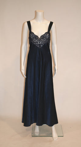Vintage Vanity Fair Midnight Blue Nightgown