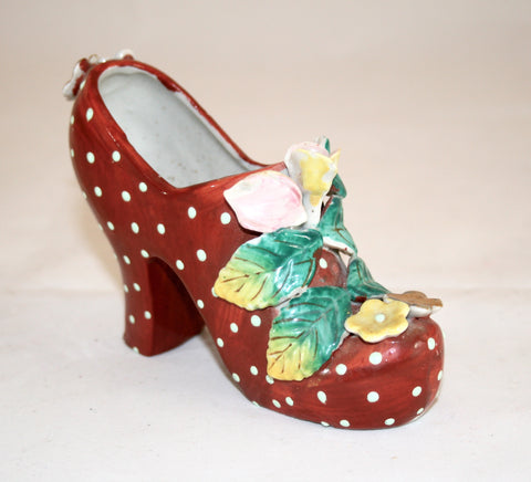 Vintage Decor 1940s Porcelain Shoe
