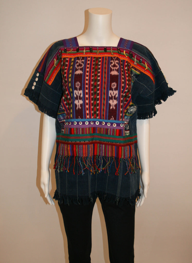 Vintage Huipil, Hand Woven Embroidered Top