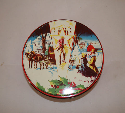 Vintage Cowboy Christmas Decorative Tin