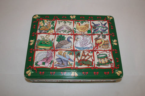 VIntage 12 Days of Christmas Tin