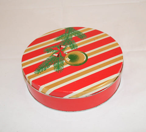 Vintage 1950s Christmas Cookie Tin