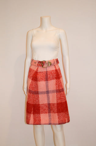 1970s Mod Plaid Skirt by Hadley