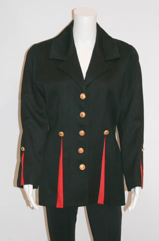 1980s Military Inspired Vintage Jacket by MON-LIZ Paris