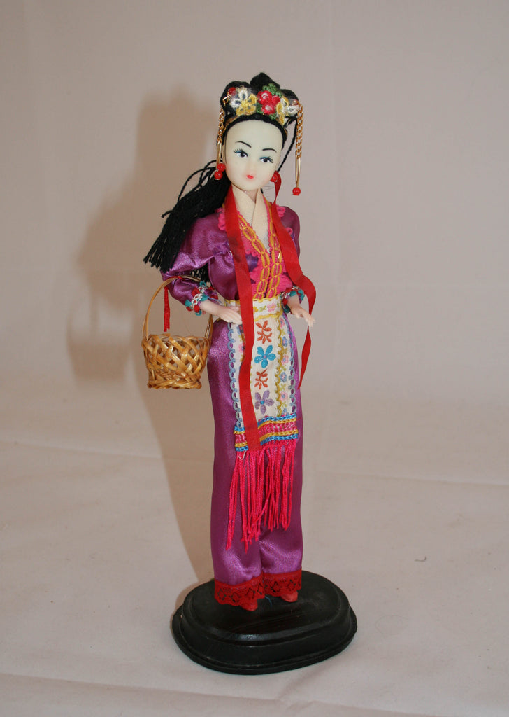 Vintage Chinese Doll, International Doll, Vintage Asian Doll