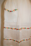 Vintage 1950s Sheer Apron with Embroidered Hearts and Flowers - Vintage Swag Chics