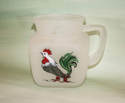 1940s Vintage Gay Fad Design Rooster Pitcher