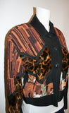 Vintage Animal Print Cropped Jacket by Howard Wolf