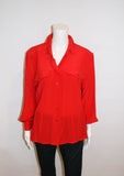 Vintage Escada Silk Color Block blouse