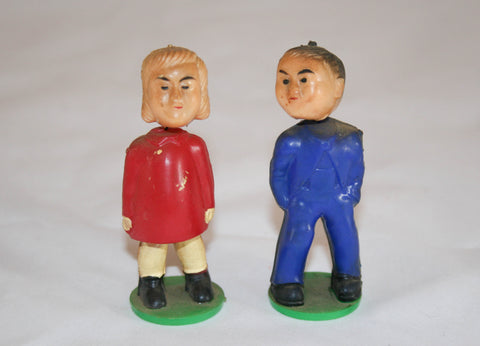 Vintage Nodders/Bobblehads Man and Woman