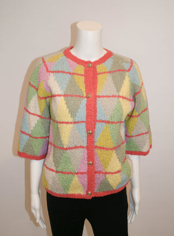 Vintage Neiman Marcus Trophy Room Chenille Sweater