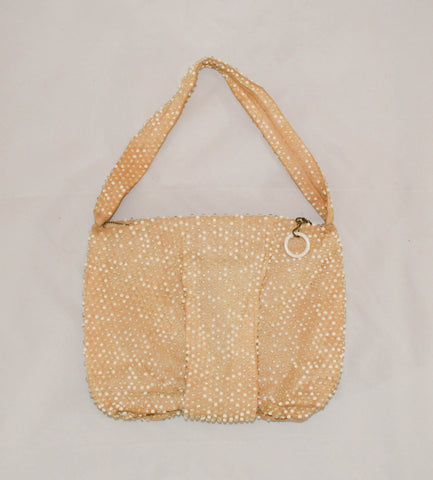 Vintage 1960s Dotty Beaded Handbag