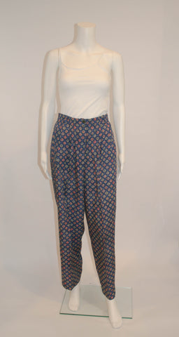 Vintage David Brooks Blue Allover Pattern Pants