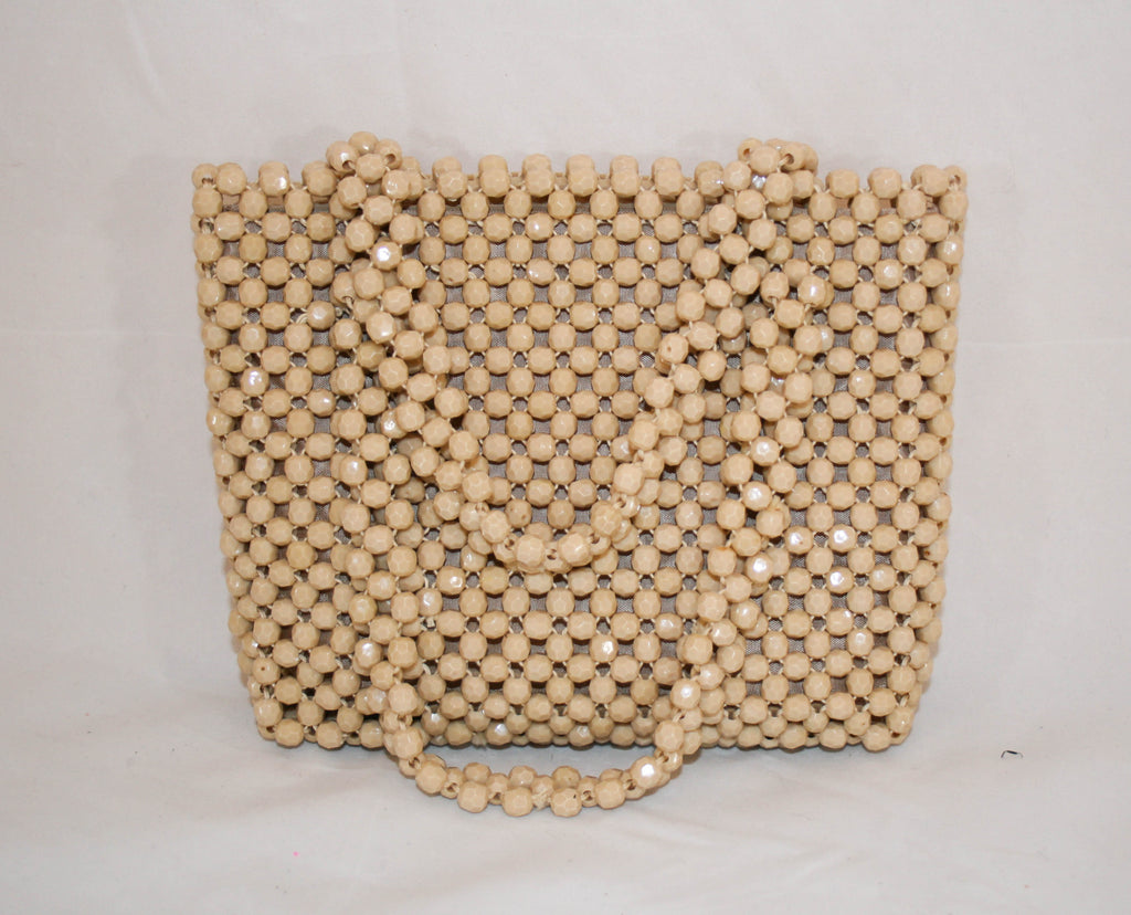 1960s Mod Purse with Faceted Lucite Beads - Vintage Swag Chics