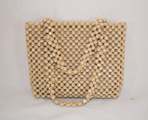 1960s Mod Purse with Faceted Lucite Beads