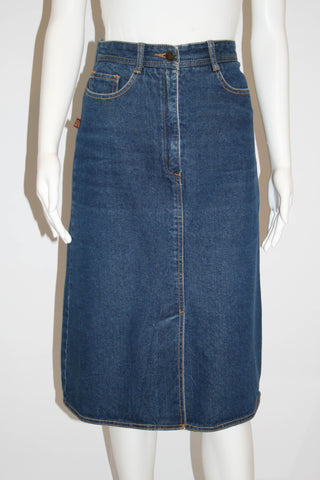 Vintage 1980s Jordache Denim Pencil Skirt