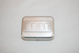 Vintage Art Deco Aluminum Metal Hinged SOAP Travel Tin