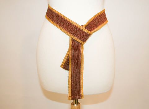 Metallic Gold Braided Wrap Vintage Belt